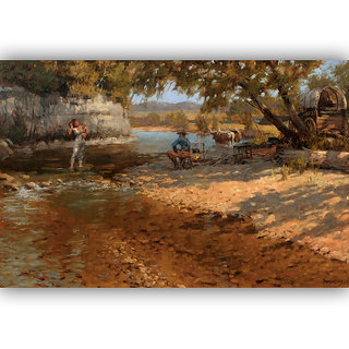 Vitalwalls Landscape Painting Canvas Art Printon Wooden Frame.Scenery-472-F-60cm