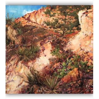 Vitalwalls Landscape Painting Canvas Art Printon Wooden Frame.Scenery-504-F-45cm