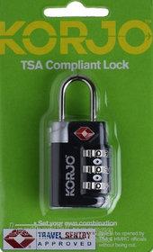 TSA COMPLIANT LOCK BLACK