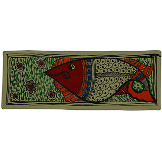 Craftuno Traditional Madhubani Painting Depicting A Fish
