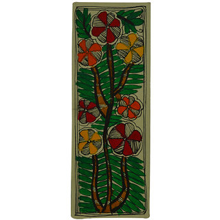 Craftuno Traditional Madhubani Painting Depicting A Blooming Bush