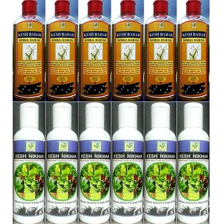 Hair Care Herbal oil, Scalp Care Herbal shampoo Shopkeepers Herbal Pack of 6+6