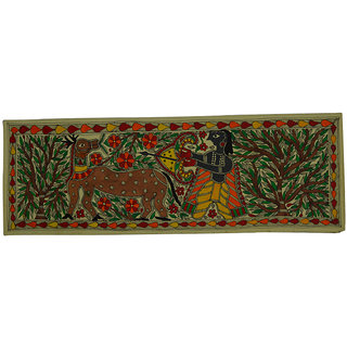 Craftuno Traditional Madhubani Painting Depicting Lord Rama Chasing Golden Deer