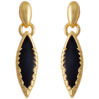 Golden Peacock Drop Earring