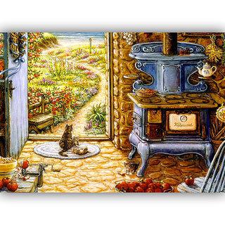 Vitalwalls Landscape Painting Canvas Art Printon Wooden Frame.Scenery-537-F-30cm