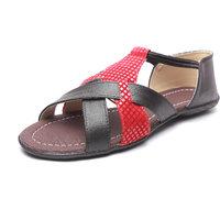 High Step Flat Black Fashion Women Sandal