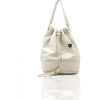 Diana Korr White Shoulder Bag DK12HWHT