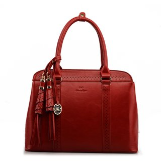 Diana Korr Red Plain Handbag