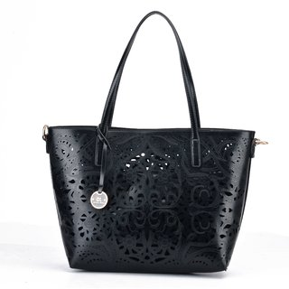 Diana Korr Black Shoulder Bag DK64HBLK