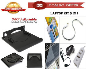 Special Offer! 360 Rotate Cooling Laptop Stand + Laptop Kit 5 In 1 - CM360KIT