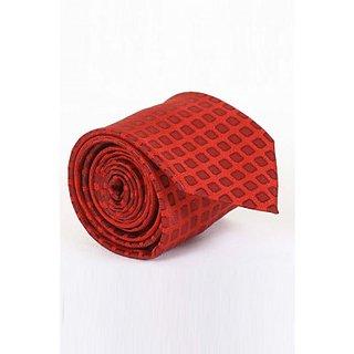 ST MARC Red Silk Printed Tie (MS68205656)