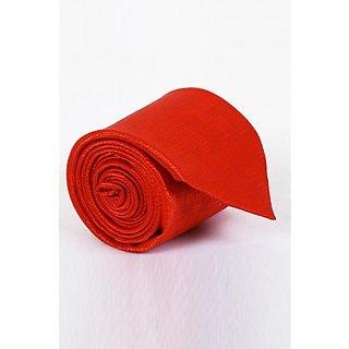 ST MARC Orange Silk Striped Tie (MS68205615)
