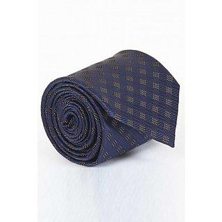 ST MARC Dark Blue Silk Printed Tie (MS68205617)