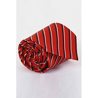 ST MARC Red and Black Silk Striped tie ( MS68205619)