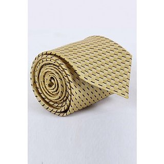ST MARC Solid Gold Silk Striped Tie ( MS68205622)