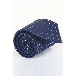 ST MARC Solid Blue Silk Printed Tie ( MS68205627)
