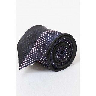 ST MARC Blue and Black Silk Printed Designer Tie (DSG62210610)