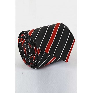 ST MARC Red and Black Silk Striped tie (MS68205620)