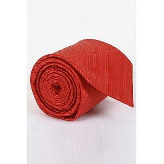 ST MARC Solid Orange Silk Striped Tie ( MS68205632)