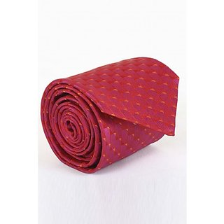 ST MARC Cerise and Red Silk Printed Tie ( MS68205642)