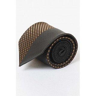 ST MARC Gold and Black Silk Designer Tie ( DSG62210612)