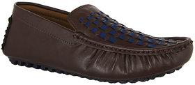 Hillsvog Brown Comfy Loafer Men Shoes-2003