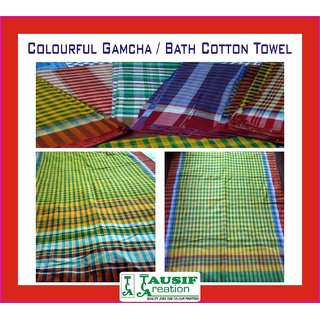 New Colourful Gamcha / Bath Cotton Towel (West Bengal Special)