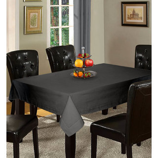 Lushomes Plain Sedona Sage Holestitch Cotton for 6 Seater Grey Table Covers
