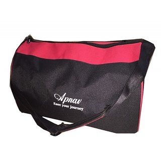 Apnav Black-Red Drum-Shaped Gym Bag