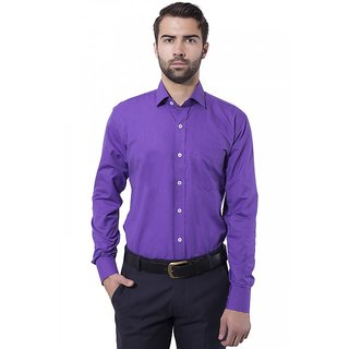 ae4d0d114a1 Buy Formal Shirt Violet Color Slim Fit for Men Online - Get 38% Off