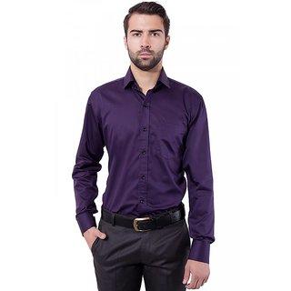 4e11a8f1053 Buy Formal Shirt Dark Purple Color Slim Fit for Men Online - Get 46% Off