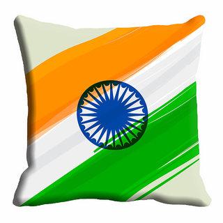 meSleep  Republic Day Chakra Cushion Cover (16x16)