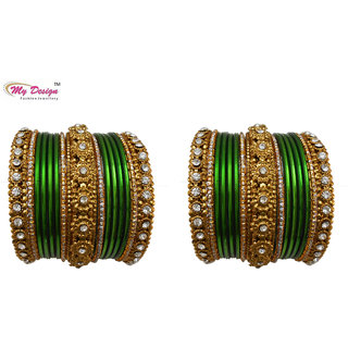 Bridal Chura Green Wedding Bangles Chuda By My Design
