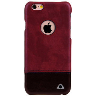 Stuffcool Vogue Dual Tone Leather Hard Back Case for  iPhone 6,6s - Red Brown