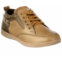 Shoe Island Hand-Crafted Beige Casual Shoes