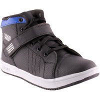 Shoe Island Trendy Black  Blue Velcro Casual Shoes