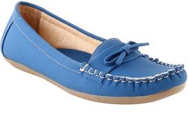 Shoe island Women's Blue Smart Casuals Shoes