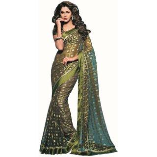Raw Silk Saree-Multicolor-SUT2979-VM-Art Silk, Georgette, Silk