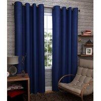 Geo Nature Eyelete blue single door Curtains size-4X7  (1CR016)