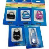 Set Of 2 3 Digit Resettable Code Password Number Lock Combination Bag Padlock En