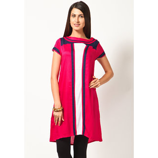 Juniper Cap Sleeve Solid Fuschia Kurti