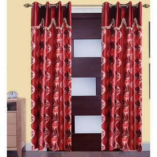 JMT Set of 2 Designer Door Curtain HZCN0700594