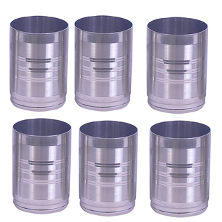 Round shape drinking glass set of 6