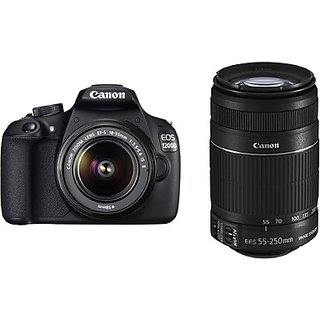 Canon EOS 1200D Kit  EF S18 55 IS II + 55 250 mm IS II  SLR DSLR Cameras