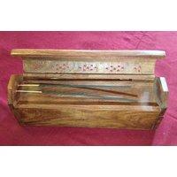 Wooden Handmade Agarbatti Coffin Incense Stick Holder