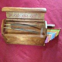 Wooden Agarbatti Incense Stick Holder + 10 Difference F