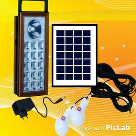 SOLAR HOME LIGHTING WITH 2 LED BULBS