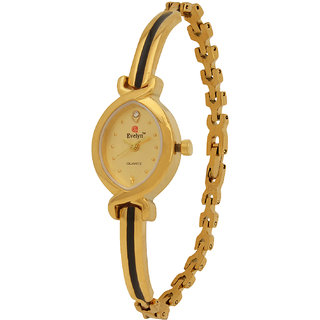 Evelyn Stainless Steel Gold Plated Wrist Watch for Women - EVE-322