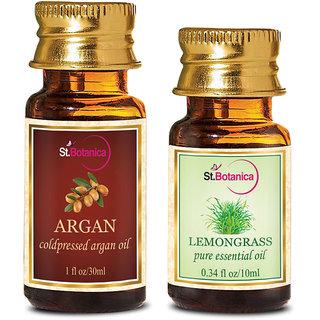 StBotanica Argan Oil (30ml) + Lemongrass Pure Essential Oil (10ml)