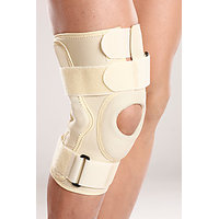 Hinged Knee Brace Support Neoprene Knee Cap Sports Acl Arthritis-Medium
